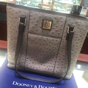 Dooney & Bourke Ostrich Tote & Wallet Set